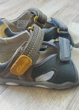 14см-22р clarks кларкс кожаные босоножки сандалии на мальчика арт.3208