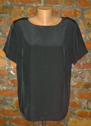 Блуза кофточка прямого кроя из мокрого шелка marks & spencer
