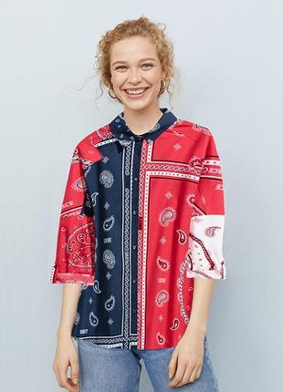 Оригинальная рубашка оверсайз от бренда h&m разм. 44
