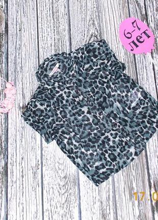 Фирменная шифоновая блуза miss e-vie для девочки 7 лет, 122 см