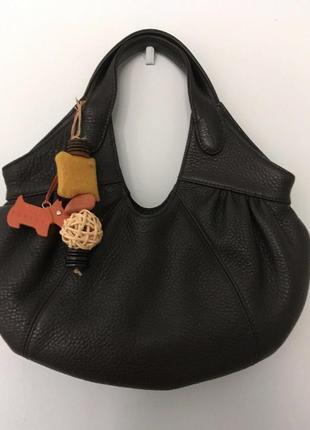 """Шкіряна фірмова англійська сумка у """"хобо"""" стилі radley. оригінал!!!"""