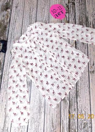 Шифоновая блуза m&s для девочки 10-11 лет, 140-146 см