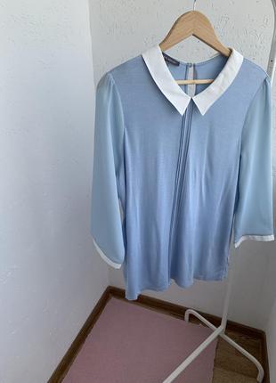 Голубая кофта футболка блуза