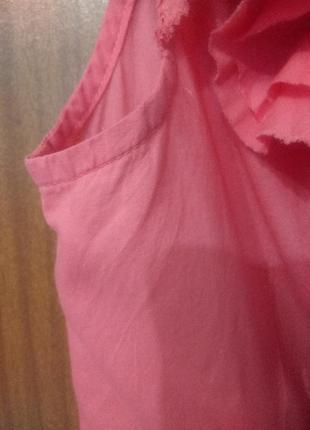 Розовая и легкая, приталенная блузка, m-l6 фото