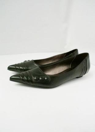 Новые (сток) классические стильные туфли из кожзама graceland. размер 38.