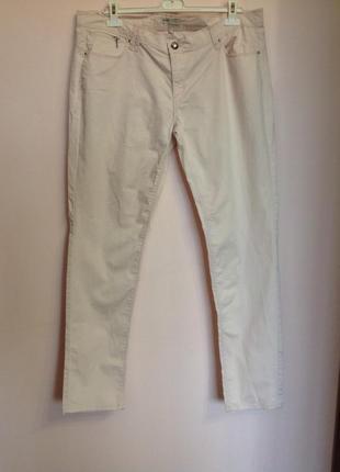 Нежно-розовые большие зауженные еластичные штаны. /48/ brend bel& bo
