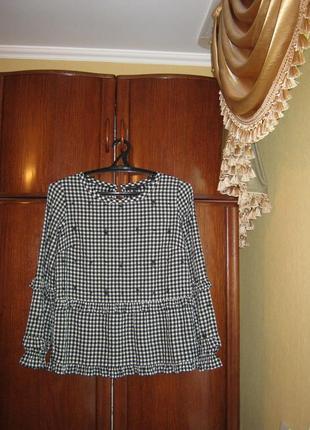 Модная рубашка next с воланами, вискоза, размер 10/38