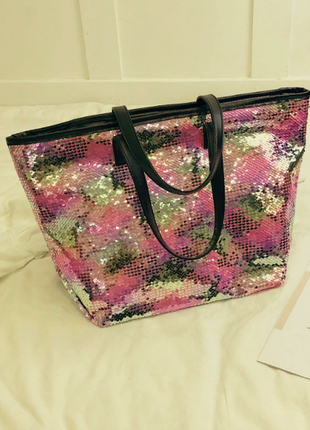 Распродажа классная летняя сумка из кожи pu с пайетками -перевертышами
