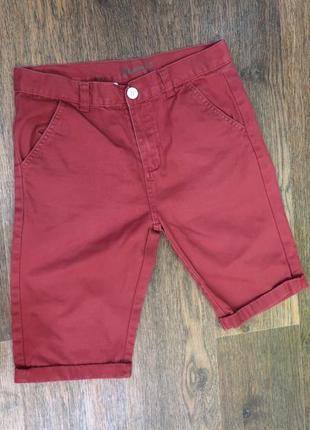 Стильные шорты кирпичного цвета