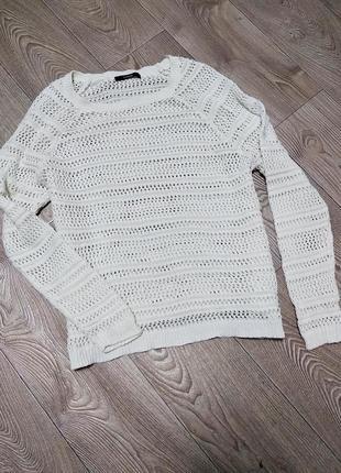 Вязаный свитер свитшот
