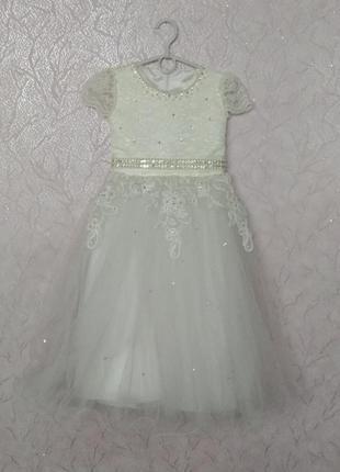 b0415f9d70b Платья нарядное выпускное праздничное бальное для маленькой принцессы 6-7  лет 116-122см
