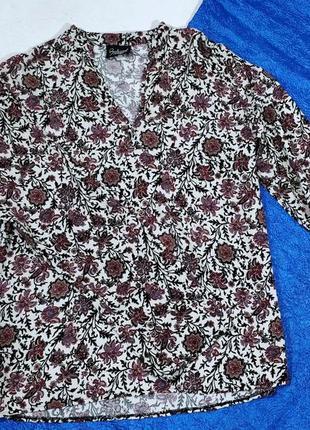Блузка  цветной принт натуральная ткань