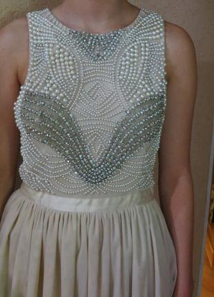 Нарядное,расшитое платье на выпускной, праздник river island 8-10р 36-38р