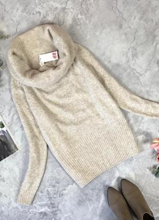 Шикарный свитер с объемной горловиной  sh1920177 h&m