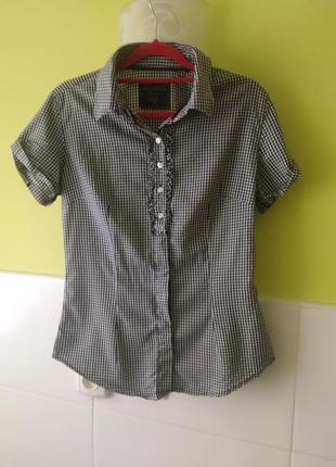 Рубашка с коротким рукавом в клетку от guess