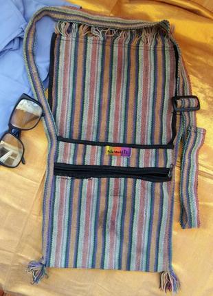Стильная сумка-торба котон этно namas непал