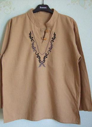 Блуза х/б с вышивкой
