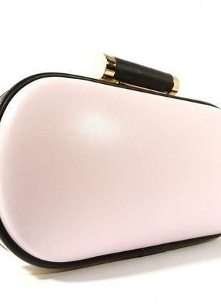 Клатч-бокс сумочка женская бледно-розовая
