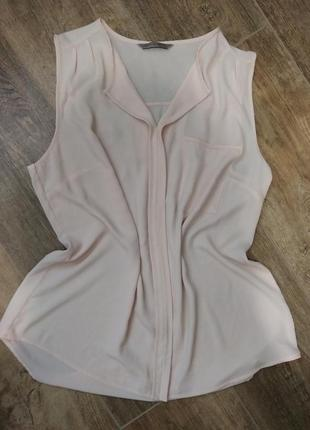 Пудровая шифоновая блузка
