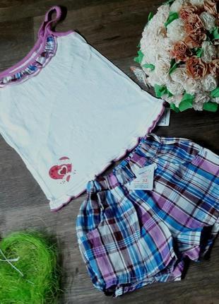 Комплект летний с шортами для девочек