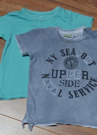 Комплект хлопковых футболок для мальчика на 2 года