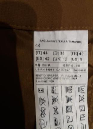 Бомбезные брюки с защипами, с карабином. горчичного цвета---sisley-10-12h италия5 фото