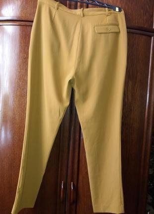 Бомбезные брюки с защипами, с карабином. горчичного цвета---sisley-10-12h италия2 фото
