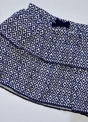 George. пышная хлопковая юбка в геометрический рисунок.18-24 мес.рост 86-92 см.