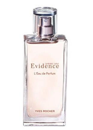 Парфюмерная вода comme une evidence yves rocher