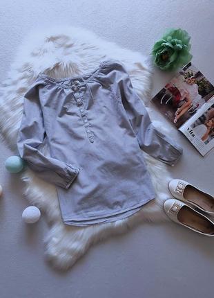 Стильная трендовая рубашка/блуза в мелкую полоску.
