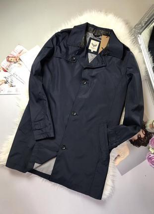 Тёмно синего цвета мужское пальто brave sovl