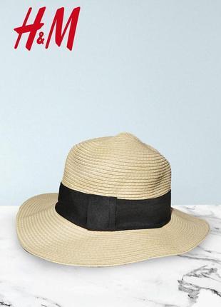 Соломенная шляпа с полями h&m