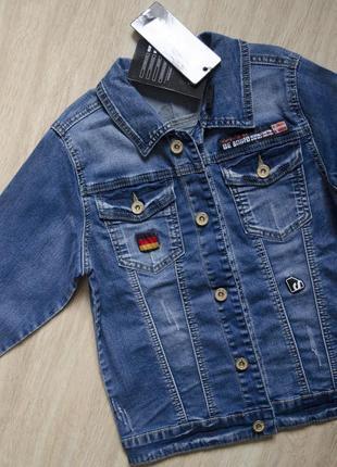 Очень крутая джинсовая куртка, джинсовая ультрамодная косуха