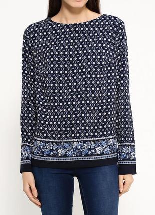 Шикарная блуза befree. синяя блузка, нарядная кофточка