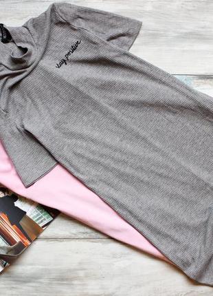 Базовое трикотажное платье в рубчик от h&m