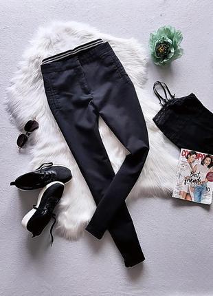 Хит продаж!!! мега стильные чёрные брюки zebra.