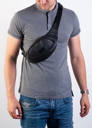 Бананка мужская, поясная сумка- perf mini, черная
