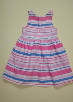 Пышное легкое полосатое платье yd by primark  3-4 года 104 см3 фото