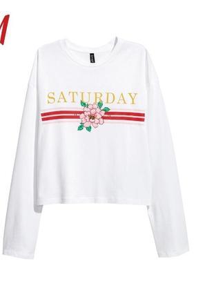 Топ лонгслив футболка с длинным рукавом от h&m