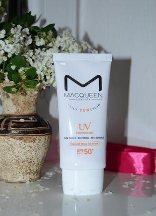 Сонцезахист санскрин macqueen daily sun cream uv protection
