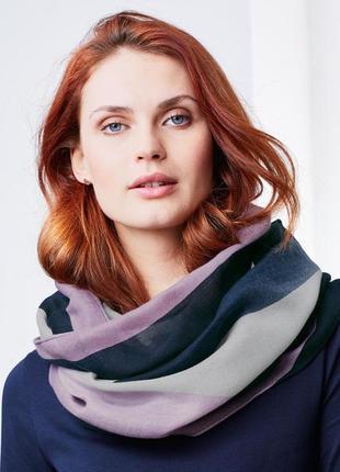 Красивенный модный шарф-снуд tchibo, германия