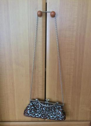 Вечерняя сумка клатч вышитая бисером