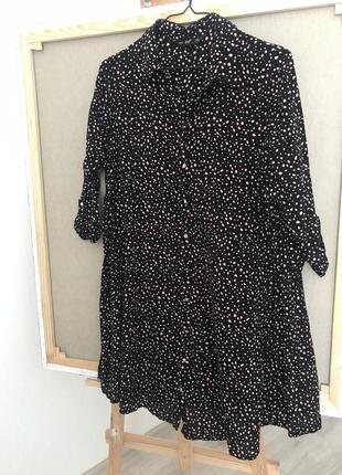 Легкое летнее платье в интересный принт2 фото