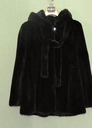 Шуба норкова коричнева blackglama
