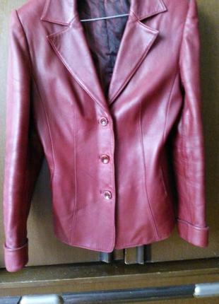 Кожаный пиджак с подстежкой
