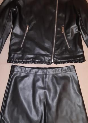 Кожаный итальянский костюм tо be too р.152-158