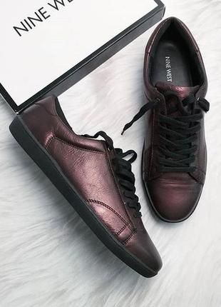 Nine west оригинал женские кожаные пурпурные кеды