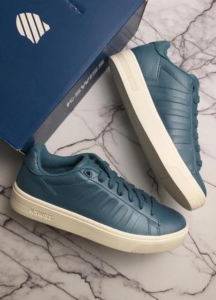 K-swiss оригинал кожаные перламутрово-голубые кеды
