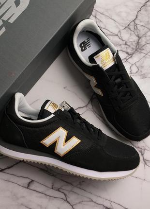 New balance оригинал черные замшевые кроссовки модель 220v1