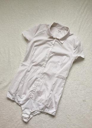 Белая рубашка боди